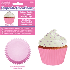 Bakery Quality Cupcake Baking Cups - Light Pink (32 pieces)