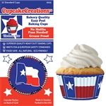 Bakery Quality Cupcake Baking Cups - Flag of Texas (32 pieces)