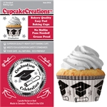 Bakery Quality Cupcake Baking Cups - Graduation (32 pieces)