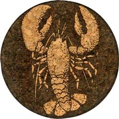 Cork Coaster (Lobster - Reverse Engraving) by GrafixMat