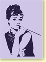 """Audrey Hepburn"" by Kate Finn Lavender 16"" x 20"" Giclee Print on Canvas"