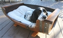 Rewined Designs Oak Barrel Dog Bed With Cushion Wine Furniture