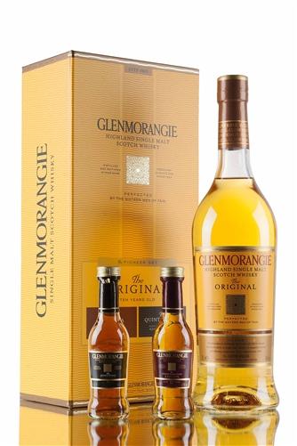 Glenmorangie 10 Years Old Single Malt Scotch Whisky Gift Pack [w/ 50ml Lasanta & 50ml Quinta ...