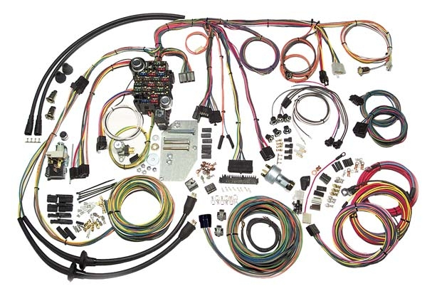 american autowire complete wiring harness 1955 56 chevy