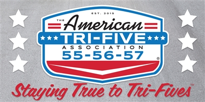 The American Tri-Five Association Official License Plate