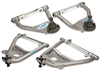 CPP 1955-57 Chevy Tubular Control Arms 1955-57, Upper/Lower, Silver, Set (OS)
