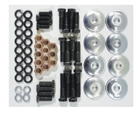1955-1957 Chevy Front Suspension Fastener Kit, Black