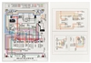 1955 Chevy Laminiated Wiring Diagram, Color
