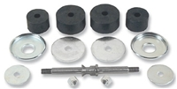 Danchuk 55-57 Motor mount set,w/rubber, washers, shafts