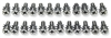 Danchuk 55-57 Screw set, tailgate,stainless (Nom & wgn)