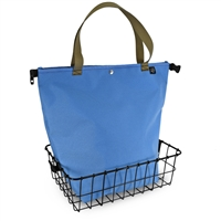 Small Light Blue Basket Bag