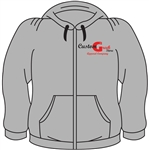 <b>Zip-Up Sweatshirt</b> with <b>Company Logo Embroidered</b>