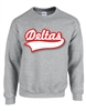 Crewneck Sweatshirt with Baseball Script