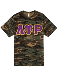 <b>Camouflage T-Shirt</b> with <b>6-Inch</b> Greek Letters