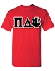 <b>Crew Neck T-Shirt</b> with <b>6-Inch</b> Greek Letters