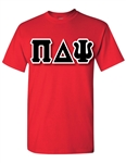 Crew Neck T-Shirt with 6-Inch Greek Letters