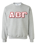 Crewneck Sweatshirt with 4.5-Inch Greek Letters