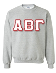 <b>Crewneck Sweatshirt</b> with <b>6-Inch</b> Greek Letters