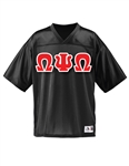 <b>Football Jersey</b> with <b>4.5-Inch</b> Greek Letters
