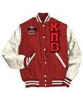 <b>Letterman Jacket</b> with Greek Letters and <b>Crest</b>