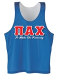 <b>Reversible Mesh Tank</b> with <b>Heat Pressed 4.5-Inch</b> Greek Letters