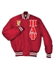 PREMIUM Satin Baseball Jacket</b> with <b>4.5-Inch Greek Letters