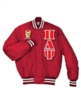 <b>PREMIUM Satin Baseball Jacket</b> with <b>4.5-Inch</b> Greek Letters
