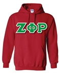<b>Pullover Hooded Sweatshirt</b> with <b>4.5-Inch</b> Greek Letters