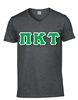 <b>V-Neck T-Shirt</b> with <b>4.5-Inch</b> Greek Letters