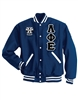 Wool Jacket with Greek Letters and Crest