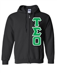 <b>Zip-Up Hooded Sweatshirt</b> with <b>4.5-Inch</b> Greek Letters