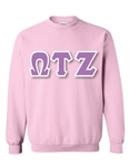Crewneck Sweatshirt with 6-Inch Greek Letters