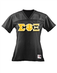 Football Jersey with 4.5-Inch Greek Letters