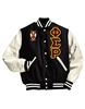 Letterman Jacket with Greek Letters and Crest