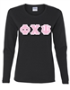 Long Sleeve T-Shirt with 4-Inch Greek Letters