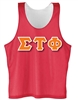 Reversible Mesh Tank</b> with <b>Heat Pressed 4.5-Inch Greek Letters