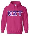 Pullover Hooded Sweatshirt with 4.5-Inch Greek Letters
