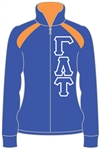 Sorority Track Jacket with 4.5-Inch Greek Letters