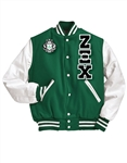 Varsity Jacket with Greek Letters and Crest