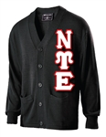 Sweater Knit Cardigan with <b>4.5-Inch</b> Greek Letters