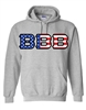 Pullover Hooded Sweatshirt Flag Overlay