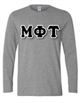 Long Sleeve Unisex T-Shirt with 4.5-Inch Greek Letters