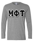 <b>Long Sleeve Unisex T-Shirt</b> with <b>6-Inch</b> Greek Letters