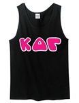 Unisex Tank Top with 4.5-Inch Greek Letters