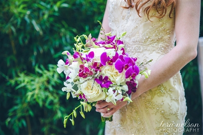 High Style Orchid Wedding
