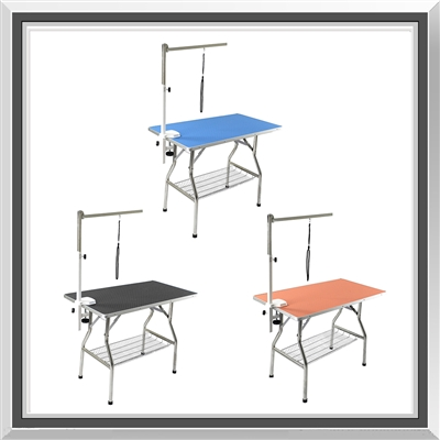 pet grooming table, dog grooming table, grooming table, foldable grooming table, large, stainless steel, non-slip, no slip