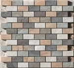 "Mosaic Eternity Mix 1"" x 2"" Mur (A/G/F/M) (12"" X 12"" Sheet),Suwanee, Atlanta, Johns Creek, Buford, Duluth, Gwinnett, Alpharetta, Lilburn, Roswell,Flooring, Tile, Wood, Porcelain Tile, Ceramic Tile, Mosaic Tile, Mosaic, installation product sale, happy flo"
