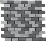 "Mosaic Eternity Mix 1"" x 2"" (Black+Grey) Muretto (12"" X 12"" Sheet),Suwanee, Atlanta, Johns Creek, Buford, Duluth, Gwinnett, Alpharetta, Lilburn, Roswell,Flooring, Tile, Wood, Porcelain Tile, Ceramic Tile, Mosaic Tile, Mosaic, installation product sale, ha"