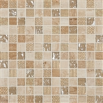 "Cordoba Beige Deco Mosaic Mix 1"" x 1"" (12"" X 12"" Sheet)Suwanee, Atlanta, Johns Creek, Buford, Duluth, Gwinnett, Alpharetta, Lilburn, Roswell,Flooring, Tile, Wood, Porcelain Tile, Ceramic Tile, Mosaic Tile, Mosaic, installation product sale, happy floors,"