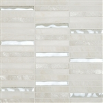 "Cordoba White Linear Mosaic 0.6X4 (12"" X 12"" Sheet)Suwanee, Atlanta, Johns Creek, Buford, Duluth, Gwinnett, Alpharetta, Lilburn, Roswell,Flooring, Tile, Wood, Porcelain Tile, Ceramic Tile, Mosaic Tile, Mosaic, installation product sale, happy floors, happ"
